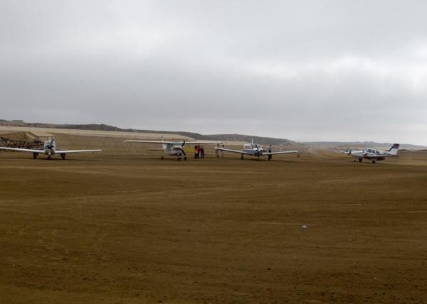 Clinic Planes at Los Pinos airstrip