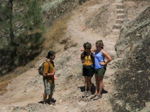 Ney-J, Betsy and Belyn at Pinnacles
