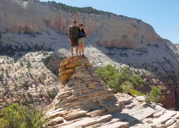 Bets and Ney on Angel's Landing