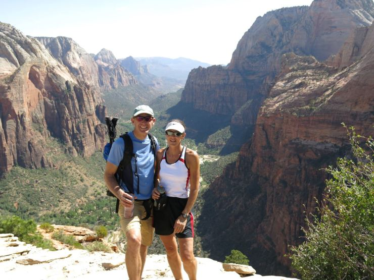 Graeme and Deb on Angel's Landing