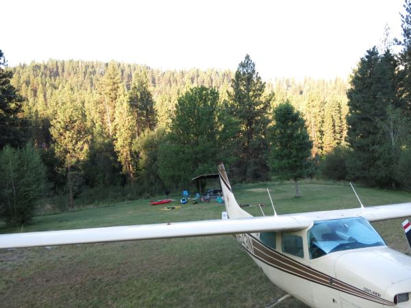 Fantastic Idaho plane-camping at Garden Valley airstrip