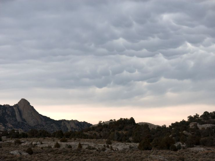 Storm over City of Rocks