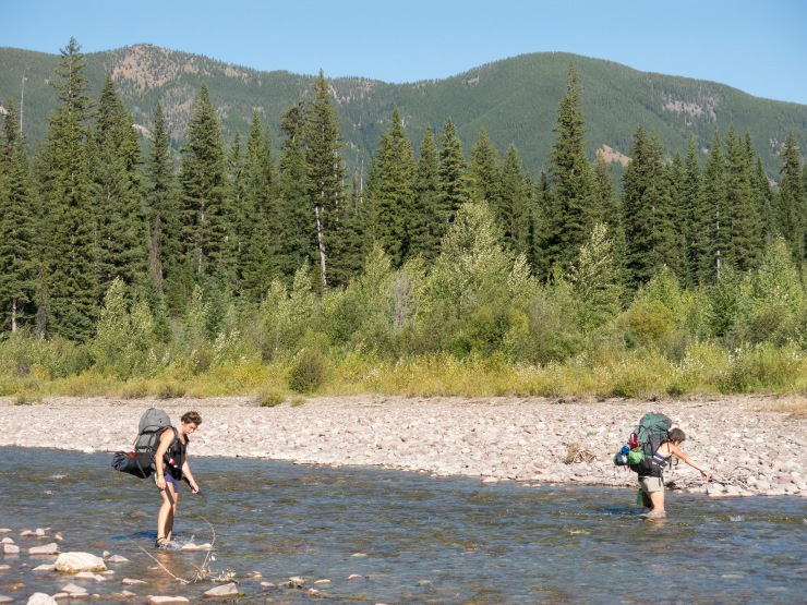 Fording the Middle Fork of the Flathead River
