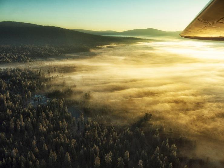 Valley fog after sunrise