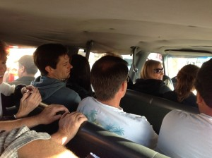 14 people in a 12 person van on Baja Highway 1?