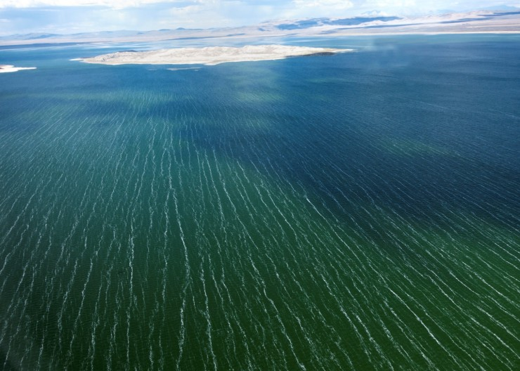 Wind pattern on Mono Lake