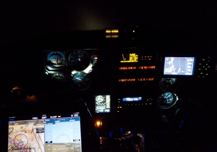 Maybe seems redundant to have three GPSs.  On this night - nice.